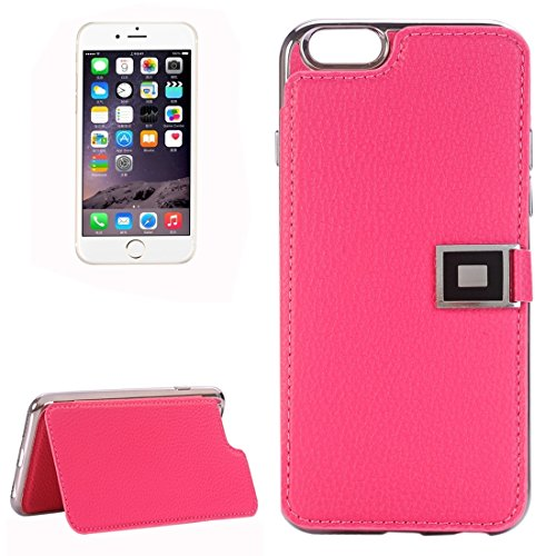 Phone case & Hülle Für iPhone 6 Plus / 6s Plus, Litchi Texture Horizontale Flip Leder Tasche mit Halter & Card Slots ( Color : Magenta ) Magenta