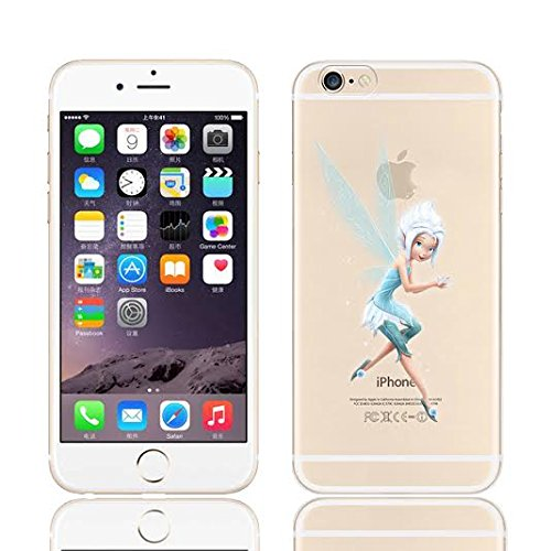 DISNEY TINKERBELL & FAIRY FRIENDS CLEAR TPU SOFT CASE FOR APPLE IPHONE 8 PLUS VIDIA PERIWINKLE