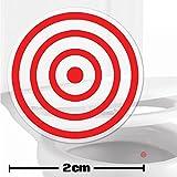 Toilettenhilfe für Kinder Säuglinge Jungs Lustige Badezimmer Bad Töpfchen Pinkelhilfe 10 x Zielhilfe Aufkleber (2 cm)