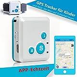 CREATONE® MyGPS-1000 blau Mini GPS Tracker mit APP Echtzeitposition (iOS & Android), SMS-Tracking, Anruf-Funktion, GEO-Z