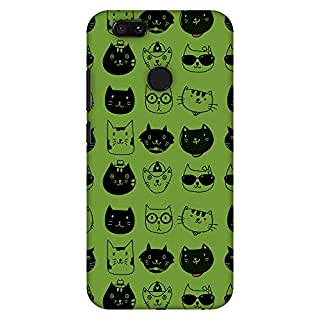 Amzer Slim Handcrafted Designer Printed Hard Shell Case for Xiaomi Mi A1/5X - Cat Party
