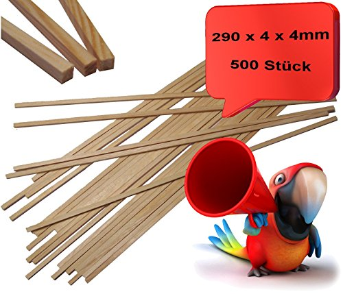 Zuckerwattestäbchen 500 Stück 4x4x290mm