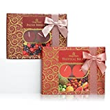 The Gift Box Il Regalo lumini Twin Pack - Plush Berries And Tropical Fruit