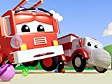 Klein Jerry das Rennauto hat eine Felge gebrochen/Feuerwehrauto hat eine Murmel verschluckt/Pickup hat ihre Stimme verloren und kann nicht singen!