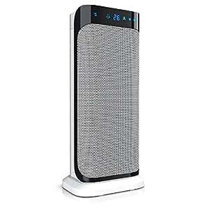 Brandson - Termoventilatore con telecomando | Riscaldatore ceramico rapido con funzione di oscillazione | 2x livelli di riscaldamento | Timer | Protezione contro il surriscaldamento | 2000W | Silence
