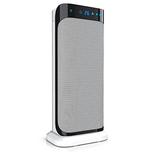 Brandson - radiateur soufflant céramique avec télécommande | appareil de chauffage rapide en céramique avec fonction d'oscillation | 2x niveau de chauffage | temporisateur