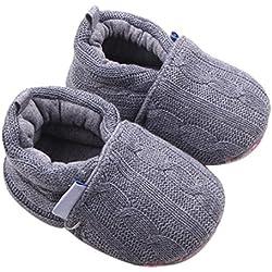 Tefamore Zapatos de niño pequeño (Longitud: 12CM, Gris)