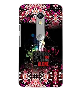 PrintDhaba Quote D-2853 Back Case Cover for MOTOROLA MOTO X PLAY (Multi-Coloured)
