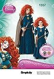 Simplicity us1557K5Tamaño K5Infantil y de niña Disney Disfraz de Brave