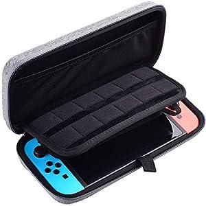 Diyife Aufbewahrungstasche für Nintendo Switch, Hartschale, Reisetasche, kompatibel mit Nintendo Switch Konsole & 12…