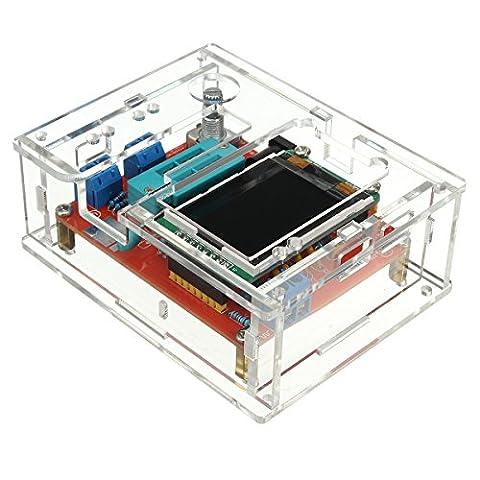 Bluelover Diy / Ensemble Gm328 Transistor Tester Diode Capacitance Générateur Lcr Avec Kit Case