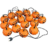 Calabaza Luces - TOOGOO(R) Mini 16 Guirnaldas Luces de Naranja Calabaza para Decoracion de Halloween (Amarillo)