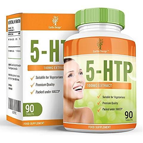 5 HTP, Triptófano, Pastillas naturales para dormir que ayudan a tener patrones de sueño sanos y aumentan los niveles de serotonina. El HTP se usa para combatir la depresión y ansiedad – 90