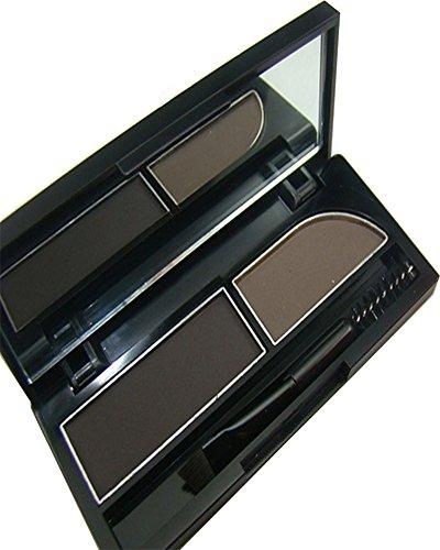 KAIKSO-IN Augenbrauen-Kuchen pwoder Brow Powder Makeup Augenbrauen Schatten 2 Farbe mischen natürlichen Augenbrauen (1#) (Augenbrauen Kuchen)