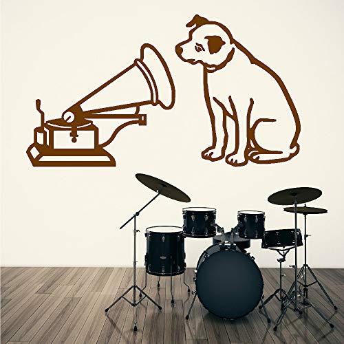 zhuziji New Dog and Voice Music Logo Wall Art Sticker Vinyl Decal...