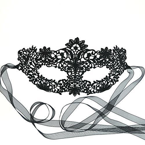 samantha peach genuine black coachella lace masquerade mask by