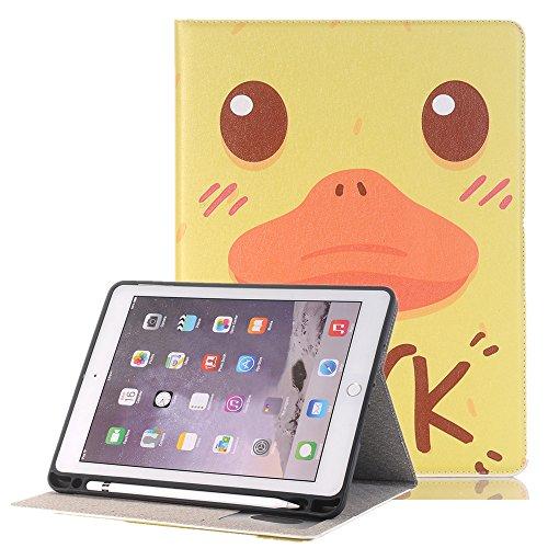 TechCode Custodia protettiva per iPad Pro 10.5, custodia in pelle sintetica di lusso Custodia protettiva per schermo pieghevole con custodia in cartone animato modello Folio con slot per schede e supporto ID per iPad Pro 10.5.