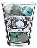Geschenk-Set - Glasvase + 30 Duft Teelichte