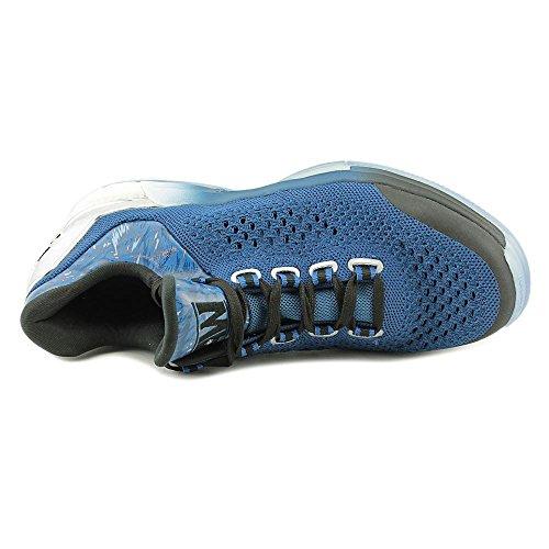 Adidas Crazylight Boost Primeknit Synthétique Baskets Blue-white-black