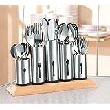 2 X Esmeyer 610-217 Besteckhalter Pipes mit 5 Halterungen aus Edelstahl- nicht abnehmbar für jeweils 12 Messer