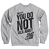Offizielles Lizenzprodukt Fight Club - Rule #1 Don't Talk About Fight Club Sweatshirt (H.Grau)
