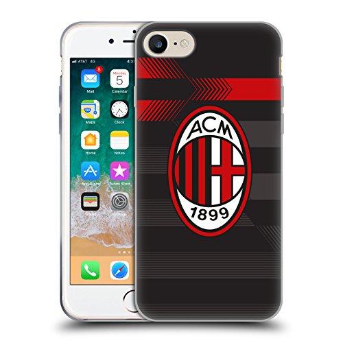 Head Case Designs Ufficiale AC Milan Terza Maglia 2018/19 Kit Cresta Cover Morbida in Gel per iPhone 7 / iPhone 8