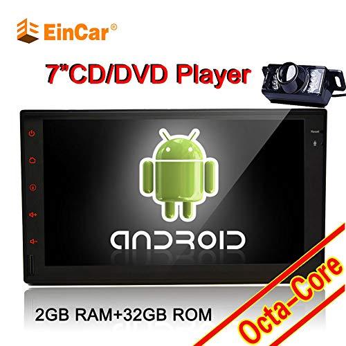 EINCAR Android 7.1 Octa-Core 7-Zoll-Double 2 L?rm-Auto-Stereo 2 GB RAM 32 GB ROM GPS Navigation im Schlag-Auto-Screen-Autoradio Unterstützung Bluetooth Lenkrad-Steuerung WiFi 1080P + Backup-Kamera Universal-trigger-modul