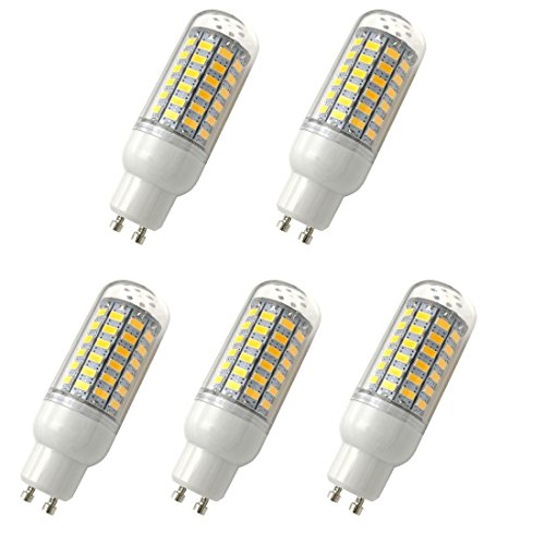 Led-energiespar-lampen (Aoxdi 5x LED GU10 Leuchtmittel Birnen 10W, Warmweiß, 69 SMD 5730 LED 10W Licht Lampen, Energiespar GU10 LED Lampe, AC220-240V)
