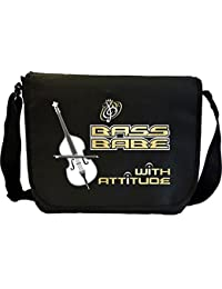 Double Bass Babe 3 Attitude - Sheet Music Document Bag Musik Notentasche MusicaliTee
