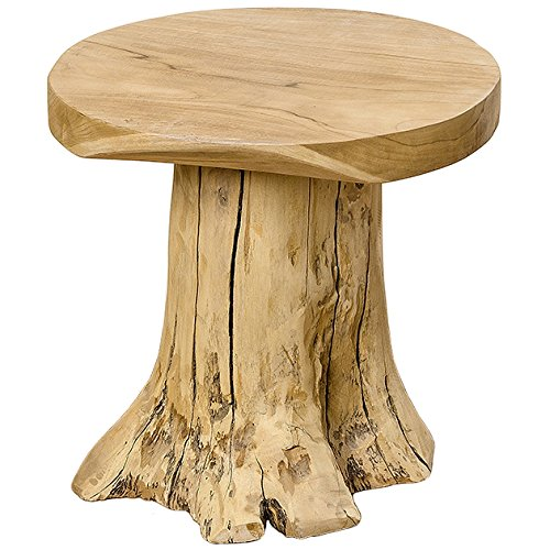 Home Collection Holz Holzklotz Baumstamm Beistelltisch Tisch H40cm Teakholz