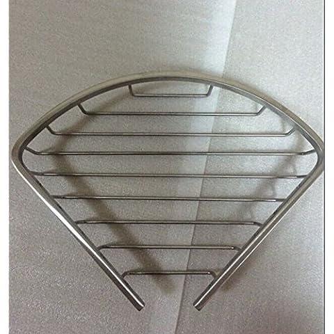 YUPD@metallica 304 dell'acciaio inossidabile telaio di cestini bagno vetro mensola bagno angolo singolo strato piccola 165 , drawing section