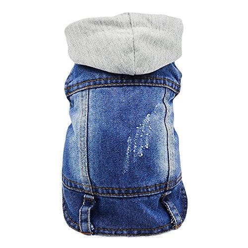 Sild Coole Vintage Washed Denim Jacke Jumpsuit Blau Jean Kleidung für kleine Haustiere Hund Katze/6Styles XS-XXL