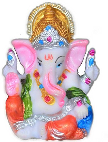 Ganesh Idol For Car Dashboard   Home Deco Jaiswal Art Showpiece - 8 cm (Polyester, Plastic, Multicolor)  available at amazon for Rs.149