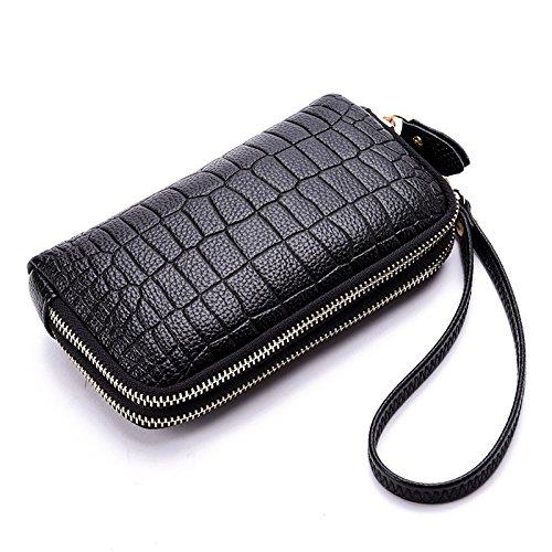 Meoaeo 2017 Nuova Moda Casual Borsa A Mano Doppia Cerniera Ladies Handbag Bianco black