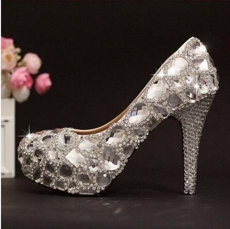 Si& Super Flash Schuhe/Crystal Strass / / hohe heels in Princess Bride/Hochzeitsschuhe 10cm