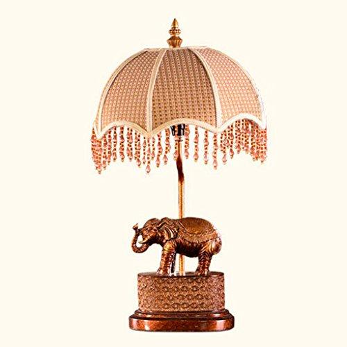 LFS Lámpara de escritorio creativa de la tela de la lámpara de escritorio Lámpara de escritorio moderna de la cabecera Lámpara de sala de estar de la sala de estar Elefante Lámpara de mesa de la perso