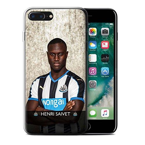 Offiziell Newcastle United FC Hülle / Gel TPU Case für Apple iPhone 7 Plus / Pack 25pcs Muster / NUFC Fussballspieler 15/16 Kollektion Saivet