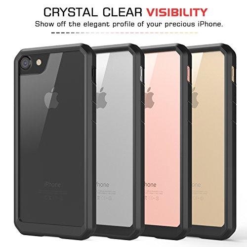 "MoKo iPhone 8 / iPhone 7 Coque Transparente- Etui/Housse de Protection Ultra léger Flexible Anti-rayures Anti-Chocs pour iPhone 8 / iPhone 7 4.7"" Smartphone , Noir Noir"