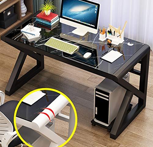 Computertische Computer-Schreibtisch, moderner minimalistischer Schreibtisch, gehärtetes Glas Schreibtisch, Home-Office-Computer-Schreibtisch, eine Workstation, PC Laptop Desktop-Workstation Computers -