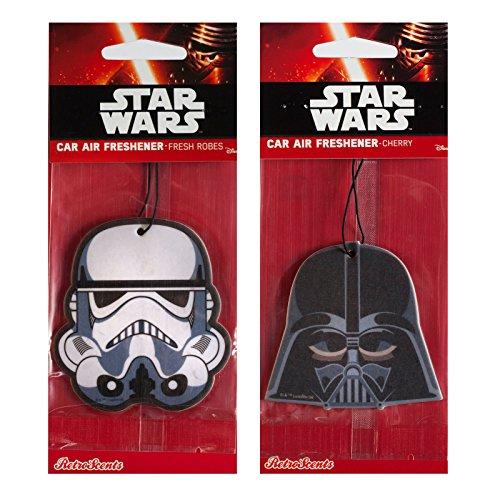 Offizieller Star Wars Disney Auto-Lufterfrischer im Doppelpack-Stormtrooper und Darth Vader
