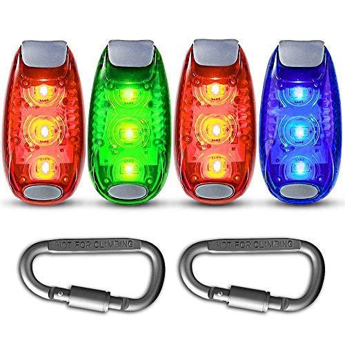 Toolove Hunde Leuchtanhänger, LED Sicherheits Clip-On Blinklicht LED Licht Leuchtanhänger Schlüsselanhänger 3 Blinkmodis für Kinder, Läufer, Jogger, Walker, Fahrradfahrer, Outdoor Tiere wie Hunde