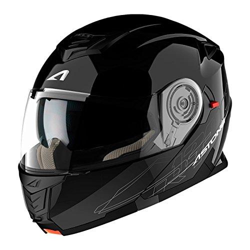 Astone Helmets, Casco, color Negro Brillante, talla