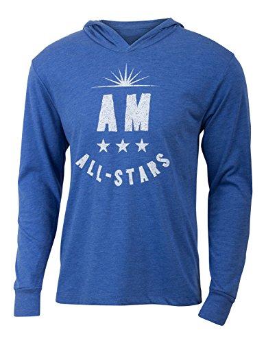 Royal Blau Lange Ärmel Pullover (A.M. All-Stars-Herren Royal Blau Lange Ärmel Triblend Hoody Workout Shirt, Herren, königsblau)