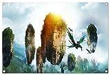 Avatar Format: 60x40 cm Bild auf PVC-Plane/Banner, Hochwertiger XXL Kunstdruck als Wandbild inkl. Ösen!!