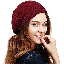 Gorro para mujer, de la marca July Sheep, de estilo beret francés, tejido con lana de un solo color