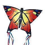 CIM Cerf-volant papillon - Butterfly ORANGE - Cerf-volant monofil pour enfants à...