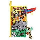 Gutsbox Baby Tuch Buch Tier Schwanz Stoffbuch Weiches Stoffbuch Intelligence Entwicklung Bücher Early Learning Lernspielzeug Ideal Geschenk für Jungen und Mädchen(Jungly Tails)