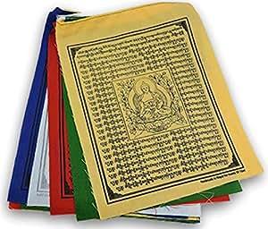 Medizinbuddha tibetische Gebetskette aus Nepal-Fahnen Flaggen - 10 Stück