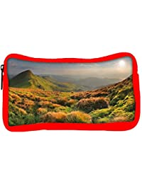 Snoogg Eco Friendly Canvas Colorful Grass Designer Student Pen Pencil Case Coin Purse Pouch Cosmetic Makeup Bag