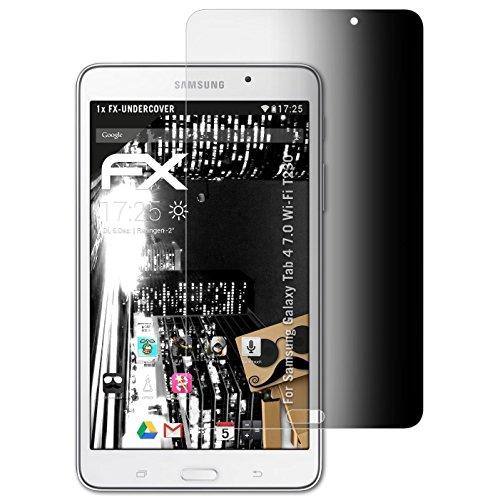 atFoliX Blickschutzfilter für Samsung Galaxy Tab 4 7.0 (Wi-Fi T230) Blickschutzfolie - FX-Undercover 4-Wege Sichtschutz Displayschutzfolie